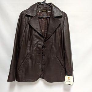 Women's Wilson's genuine leather blazer jacket NWT